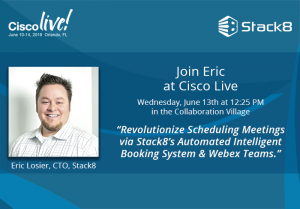 Revolutionize Scheduling Meetings via Stack8's Automated Intelligent Booking System & Webex Teams