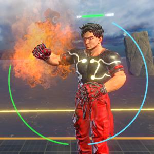 Each Character Equips Special Attacks - Karl has fiery punch