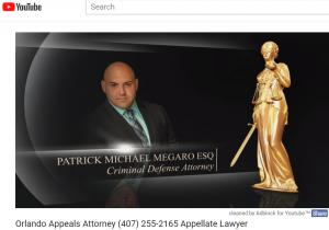 Video of Appeals Attorney Patrick Megaro YouTube Video