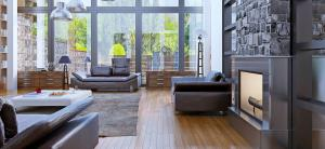 Home interior With Architectural Window Tint