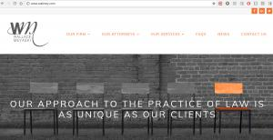 Website of Law Firm Wallace Meyaski, K. Todd Wallace