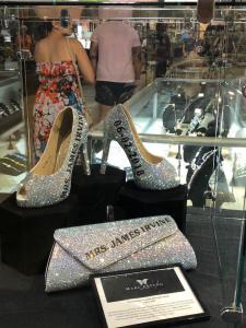 Orange County Fair featuring the Irvine Wedding and Marc DeFang custom shoes and purse