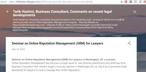 Blog of Terik Hashmi, Business Consultant