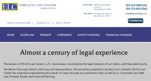 Website, Richard Ehrlich, Attorney in Florida