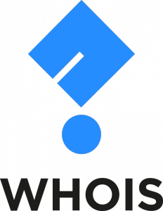 Email Hippo WHOIS logo, blue question mark WHOIS text