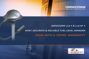 OMNICOMM  launches five-year warranty capacitive fuel-level sensors