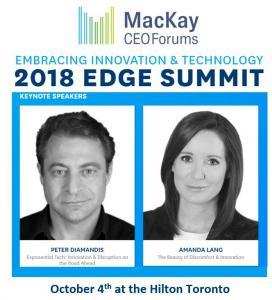 Keynote Speakers Include Peter Diamandis and Amanda Lang