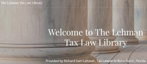 The Lehman Tax Law Library Website