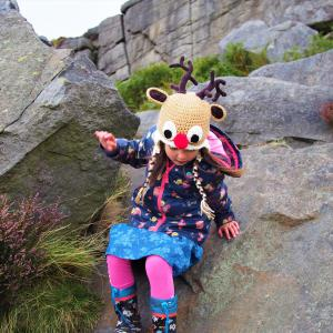 Autumn Collection of crochet hats and scarves with woodland animal theme
