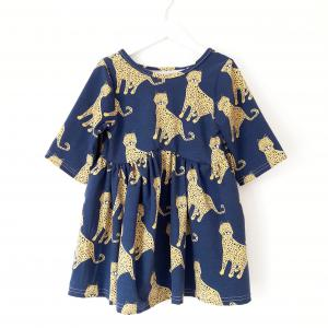 Hey BB blue leopard dress