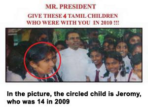 SL President with Missing Tamil Children in 2010