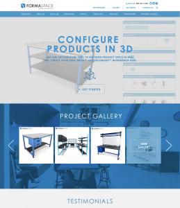 Formaspace new website homepage