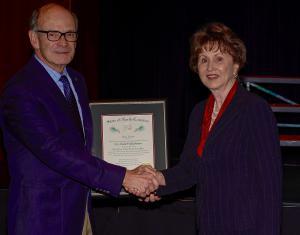 GWU President Frank Bonner (left) NCICU President Hope Williams (right)