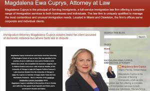 Blog of Immigration Attorney Magdalena Cuprys