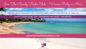 Join the Club Before January 15, 2019 to Enjoy 2 Round Trip Flights from LAX to Maui Our Exclusive Food & Wine Festival Trips