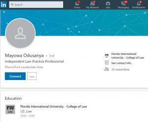 LinkedIn Profile of Mayowa Odusanya in Florida