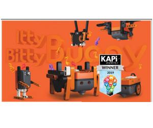 Itty Bitty Buggy orange toy box with KAPi award symbol