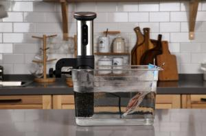 Surfit Sous Vide Cooker enables you to cook your favorite foods to perfection and enjoy fine dining at home.