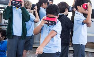 Students at Riffa Views School Bahrain Immersed in Virtual Reality based lesson