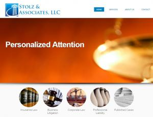 Website of lawyer Jared Stolz in New Jersey